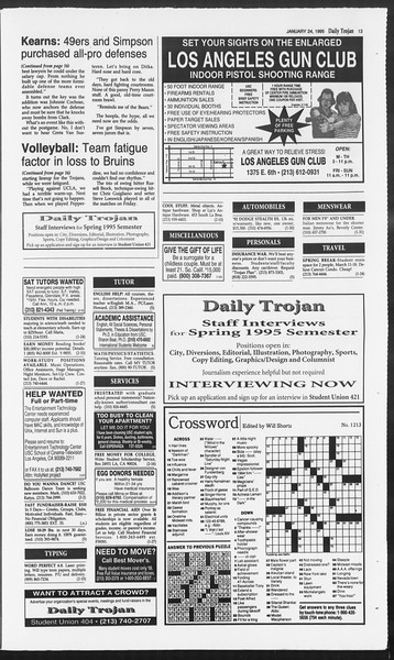 Daily Trojan, Vol. 124, No. 7, January 24, 1995