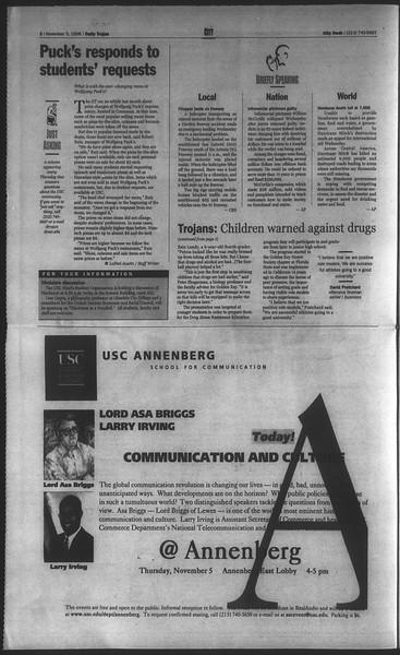 Daily Trojan, Vol. 135, No. 45, November 05, 1998