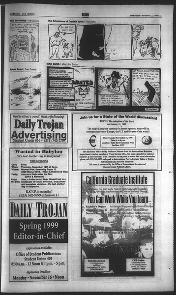 Daily Trojan, Vol. 135, No. 49, November 12, 1998