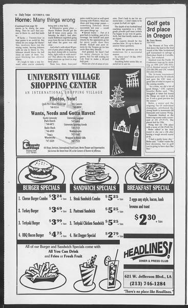 Daily Trojan, Vol. 123, No. 25, October 06, 1994