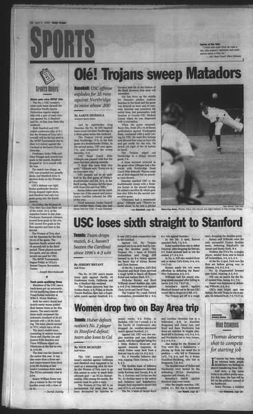 Daily Trojan, Vol. 136, No. 47, April 05, 1999