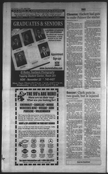 Daily Trojan, Vol. 135, No. 42, November 02, 1998