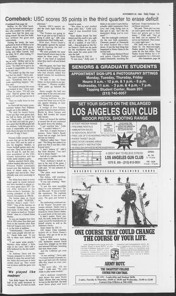 Daily Trojan, Vol. 123, No. 58, November 22, 1994