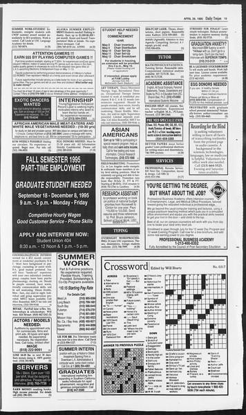 Daily Trojan, Vol. 124, No. 68, April 28, 1995
