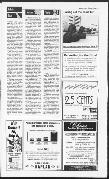 Summer Trojan, Vol. 125, No. 7, June 28, 1995