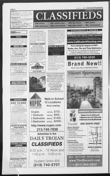 Daily Trojan, Vol. 160, No. 38, March 07, 2007