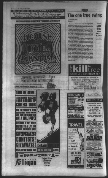 Daily Trojan, Vol. 135, No. 37, October 26, 1998