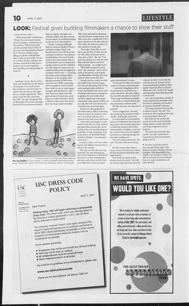 Daily Trojan, Vol. 160, No. 56, April 11, 2007