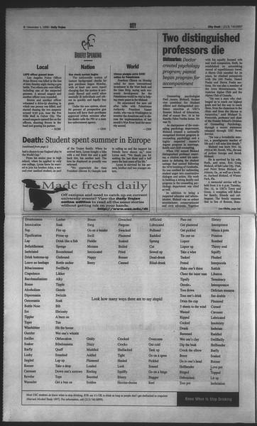 Daily Trojan, Vol. 135, No. 58, December 01, 1998