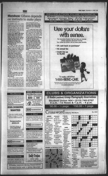 Daily Trojan, Vol. 135, No. 44, November 04, 1998