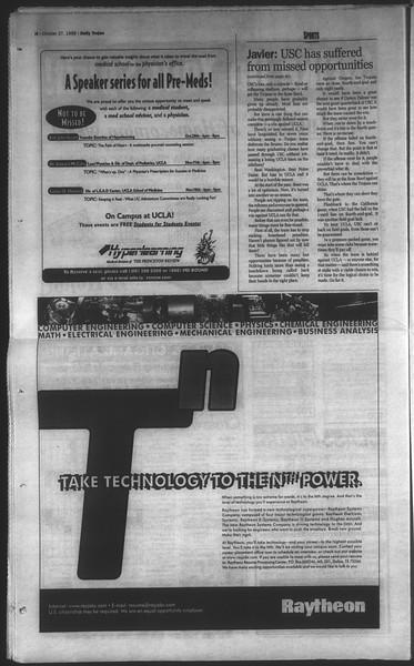 Daily Trojan, Vol. 135, No. 38, October 27, 1998