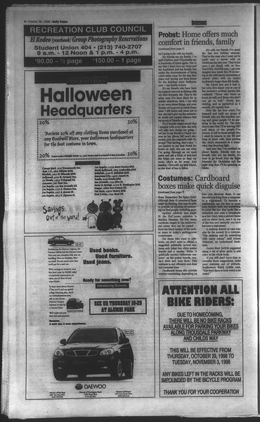 Daily Trojan, Vol. 135, No. 39, October 28, 1998