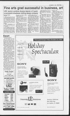 Daily Trojan, Vol. 123, No. 63, December 05, 1994