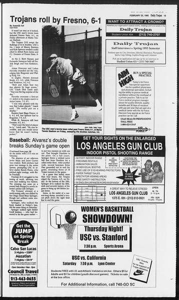 Daily Trojan, Vol. 124, No. 26, February 22, 1995