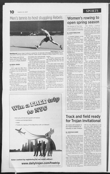Daily Trojan, Vol. 160, No. 43, March 23, 2007