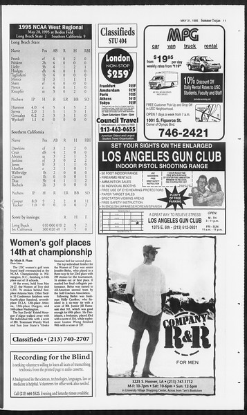 Summer Trojan, Vol. 125, No. 3, May 31, 1995