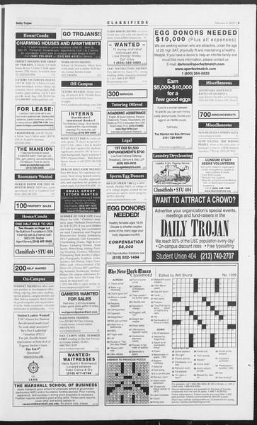 Daily Trojan, Vol. 160, No. 22, February 09, 2007