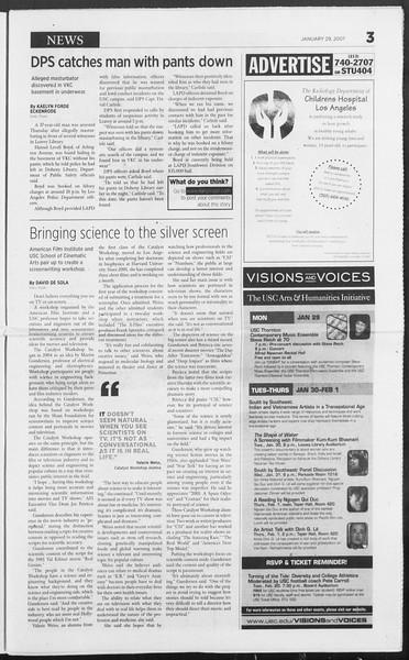 Daily Trojan, Vol. 160, No. 13, January 29, 2007
