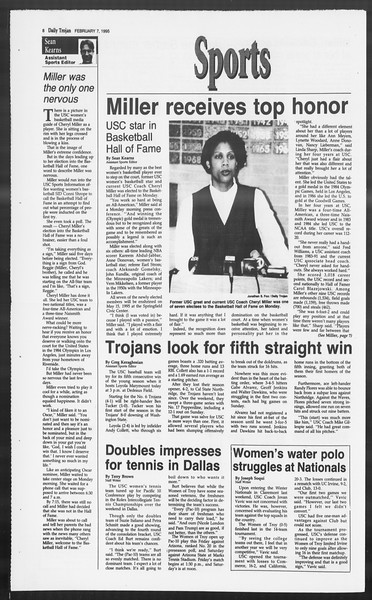 Daily Trojan, Vol. 124, No. 17, February 07, 1995