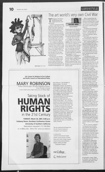 Daily Trojan, Vol. 160, No. 40, March 20, 2007