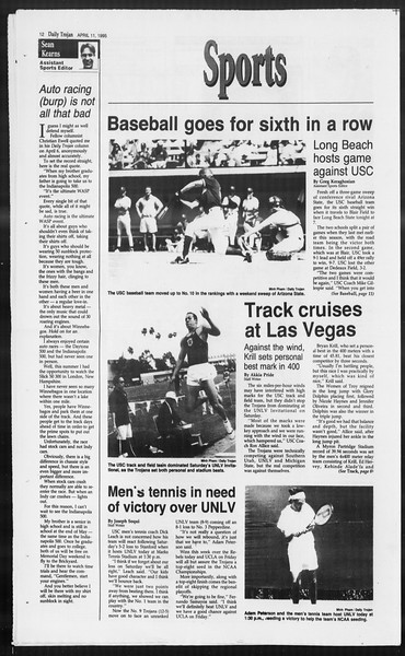 Daily Trojan, Vol. 124, No. 54, April 11, 1995