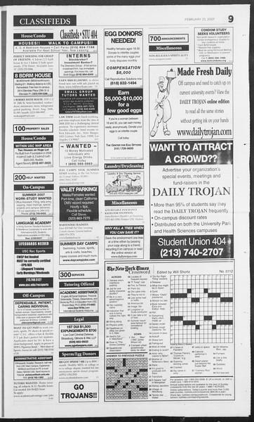 Daily Trojan, Vol. 160, No. 30, February 23, 2007