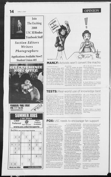 Daily Trojan, Vol. 160, No. 52, April 05, 2007