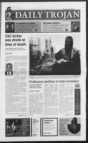 Daily Trojan, Vol. 160, No. 19, February 06, 2007