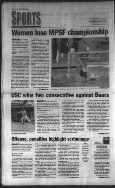 Daily Trojan, Vol. 136, No. 52, April 12, 1999