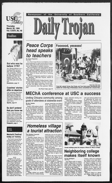 Daily Trojan, Vol. 124, No. 46, March 30, 1995