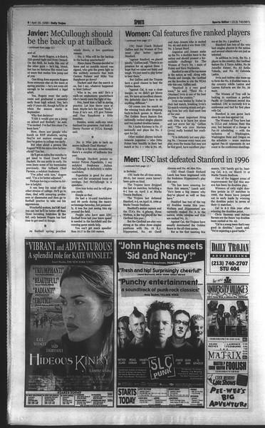 Daily Trojan, Vol. 136, No. 56, April 16, 1999
