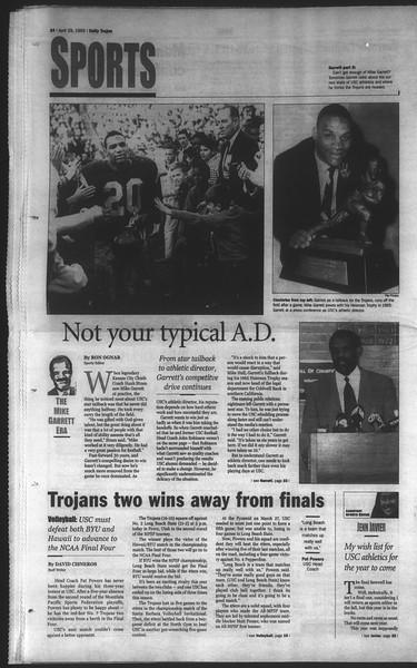 Daily Trojan, Vol. 136, No. 65, April 29, 1999