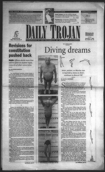 Daily Trojan, Vol. 135, No. 62, December 07, 1998
