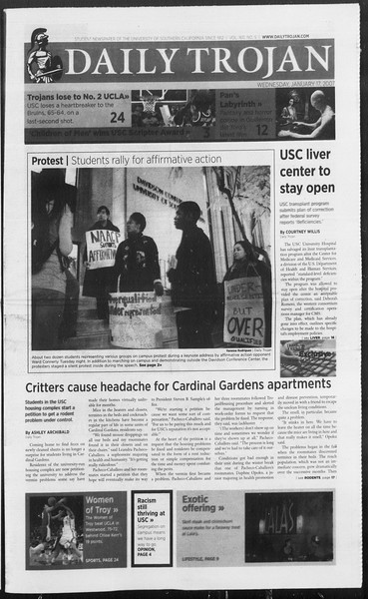 Daily Trojan, Vol. 160, No. 5, January 17, 2007