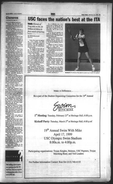 Daily Trojan, Vol. 136, No. 22, February 18, 1999