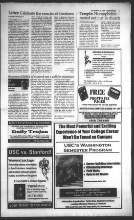 Daily Trojan, Vol. 135, No. 9, September 16, 1998