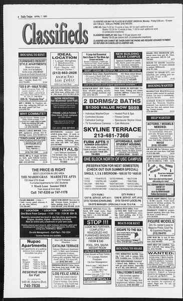 Daily Trojan, Vol. 124, No. 52, April 07, 1995