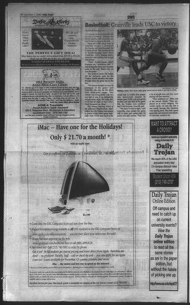 Daily Trojan, Vol. 135, No. 62, December 07, 1998