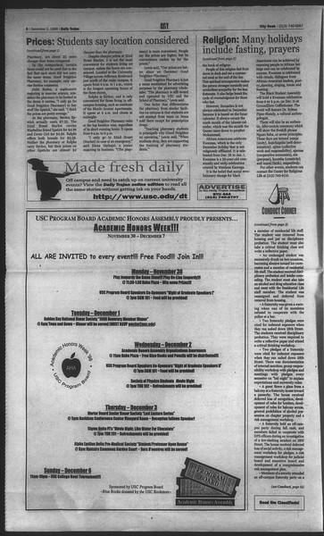 Daily Trojan, Vol. 135, No. 59, December 02, 1998