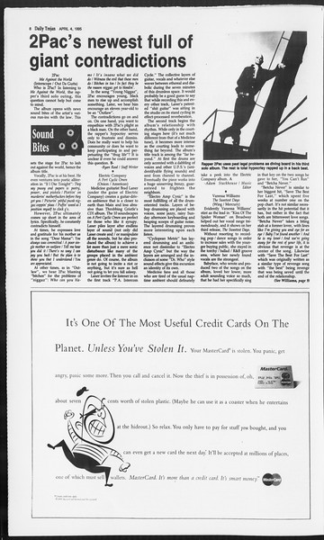 Daily Trojan, Vol. 124, No. 49, April 04, 1995