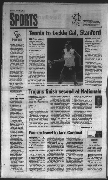 Daily Trojan, Vol. 136, No. 46, April 02, 1999
