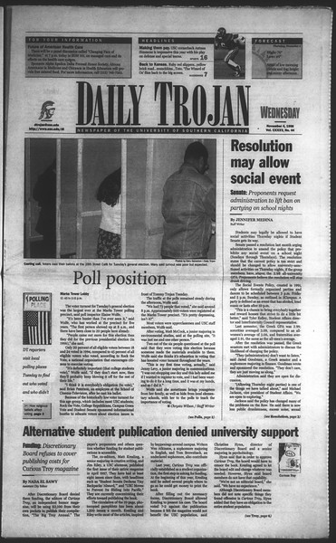 Daily Trojan, Vol. 135, No. 44, November 04, 1998