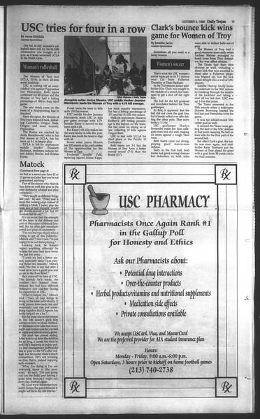 Daily Trojan, Vol. 135, No. 21, October 02, 1998