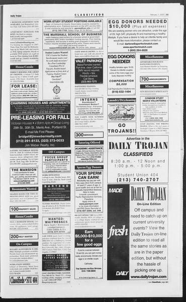Daily Trojan, Vol. 160, No. 20, February 07, 2007