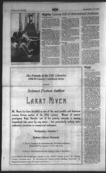 Daily Trojan, Vol. 135, No. 22, October 05, 1998
