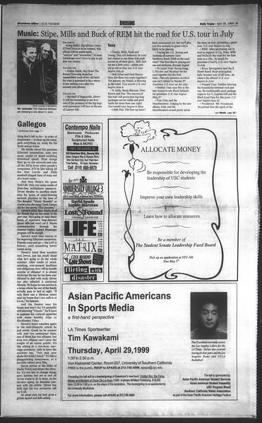 Daily Trojan, Vol. 136, No. 64, April 28, 1999