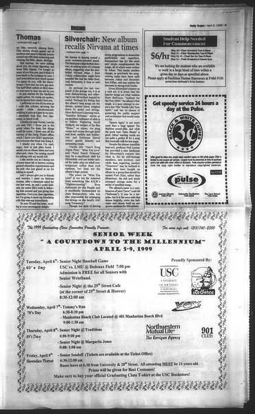 Daily Trojan, Vol. 136, No. 48, April 06, 1999