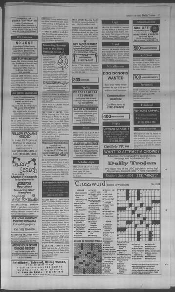 Daily Trojan, Vol. 133, No. 39, March 18, 1998