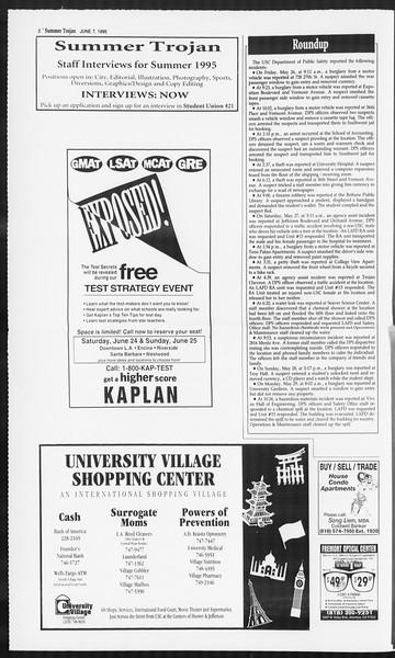 Summer Trojan, Vol. 125, No. 4, June 07, 1995