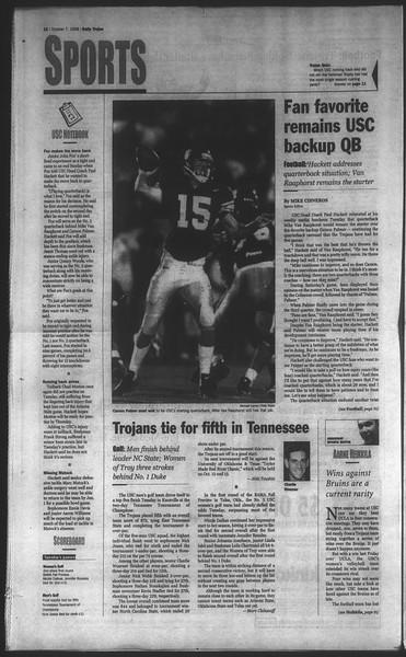 Daily Trojan, Vol. 135, No. 24, October 07, 1998